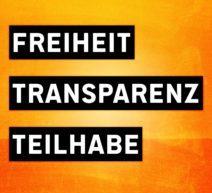 Freiheit, Transparez, Teilhabe
